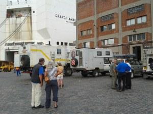 Ankunft im Hafen von Montevideo