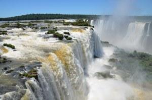 Der brasilianische Teil der Wasserfälle