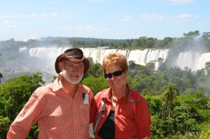 Wir beide auf der argentinischen Seite von Iguassu