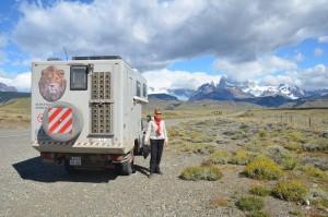 Die Anden kommen näher – im Hintergrund das Fitz-Roy-Massiv