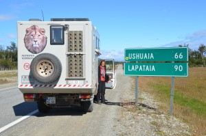 Kurz vor Ushuaia. An der Bucht von Lapataia ist dann das Ende der Panamericana erreicht.