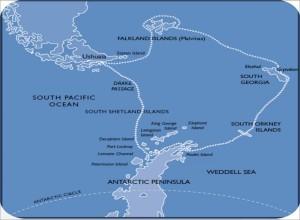 Die Route unserer Antarktis-Tour
