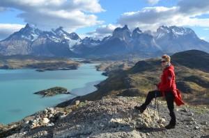Aussicht vom Mirador Condor auf die Cuernos del Paine