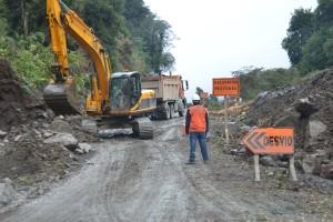 Baustelle auf der Carretera Austral nördlich von Puyuhuapi