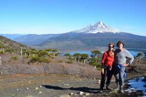 Vor dem Vulkan Llaima im Parque Nacional Conguillo