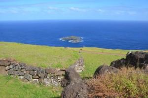 Blick von Orongo auf Motu Nui