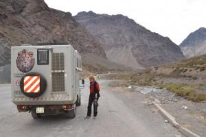 Auf dem Weg über die Anden von Santiago nach Mendoza