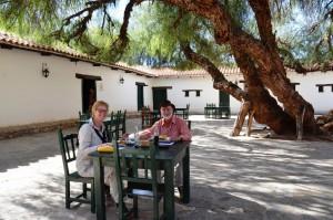 Mittagspause in der Hotel-Hacienda von Molinos