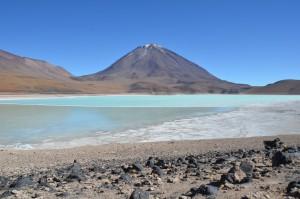 Laguna Verde vor dem Vulkan Licancabur