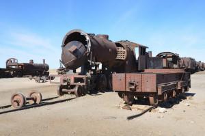 Eisenbahnfriedhof von Uyuni