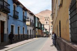 Altstadt von Potosí mit Cerro Rico im Hintergrund
