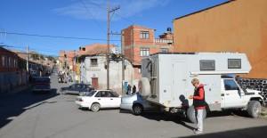 Unser Übernachtungsplatz in Potosí