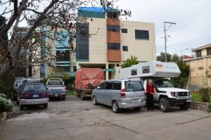 Angenehmer Übernachtungsplatz im Hostal Austria in Sucre