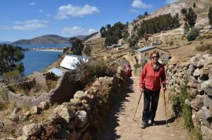 Am Beginn unserer Wanderung auf der Isla del Sol