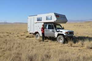 Einsamer und malerischer Übernachtungsplatz auf dem Altiplano