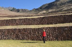 Sehr stabil ausgeführte Terrassenmauern in Pisac