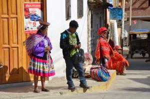 Einheimische Quetschua in Ollantaytambo