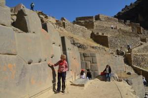 Präzise gearbeitetes Mauerwerk in Ollantaytambo