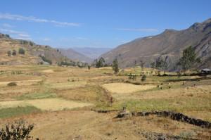 Fruchtbare Berglandschaft auf dem Weg nach Nasca