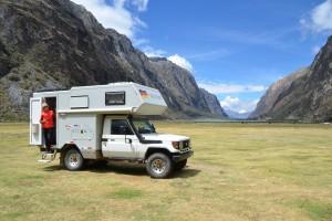 Phantastischer Campingplatz an der Laguna Orconcocha im Parque Nacional Huarascán.