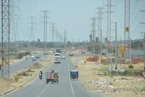 Vermüllte Straße in Chiclayo