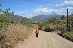 Oberhalb von Vilcabamba unterwegs