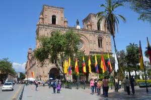 Vorderansicht der Kathedrale von Cuenca
