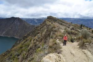 Am Kraterrand der Laguna Quilotoa