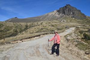 Auf dem Weg zum Kraterrand des Pichincha