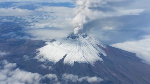 Der aktuell sehr aktive Vulkan Cotopaxi