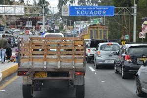 An der Grenze bei Tulcán