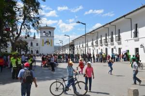 An der Plaza von Popayán