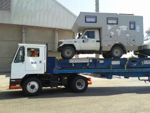Abtransport auf dem LKW