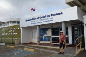 An den Gatún-Schleusen des Panama-Kanals