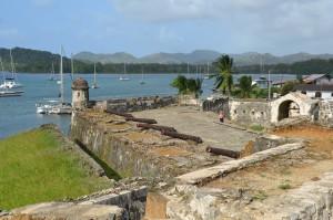 Befestigungsanlage im Hafen von Portobelo