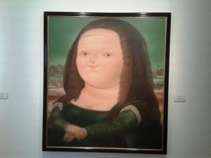 "Botero-Bild ""Mona Lisa"""