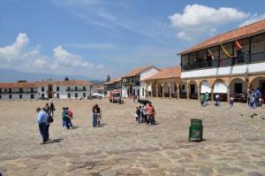 Plaza Mayor, von der Kirche aus gesehen