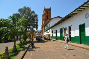 An der Plaza von Barichara