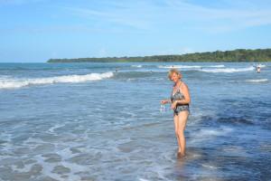 Im Cahuita Nationalpark kann man auch gut baden