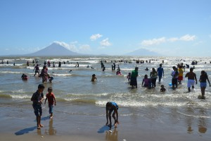 Badestrand in San Jorge am Nicaragua-See