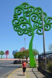 Blech-Bäume am Malecón