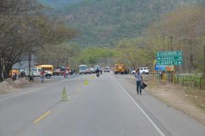 Polizeikontrolle auf dem Weg nach Tegucigalpa