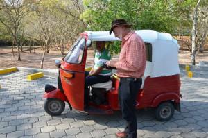 Mit diesem Mototaxi fahren wir zu den Ruinen von Copán.