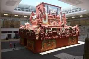 Nachbildung des Templo Rosalila im Museum von Copán