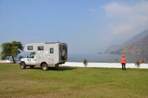 Schöner Stellplatz in Panajachel am Ufer des Atitlán-Sees