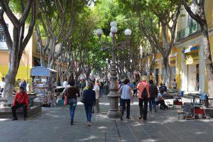 In der Fußgängerzone von Puebla