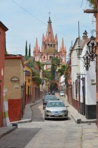 Kirche Parroquia in San Miguel de Allende, inspiriert durch gotische Kathedralen in Europa