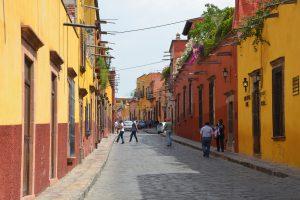 Straßenbild in San Miguel de Allende