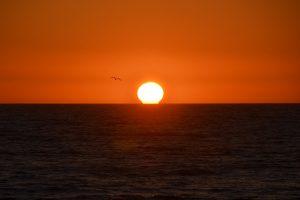 Bilderbuchmäßiger Sonnenuntergang