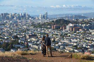 Blick vom Bernal Hill auf San Francisco